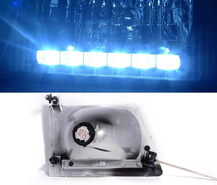92-06 Ford Econoline E-Series LED Crystal Headlights