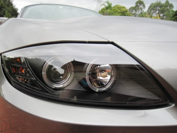 2003 2008 Bmw Z4 E85 Angel Eye Halo Euro Projector Headlights Black