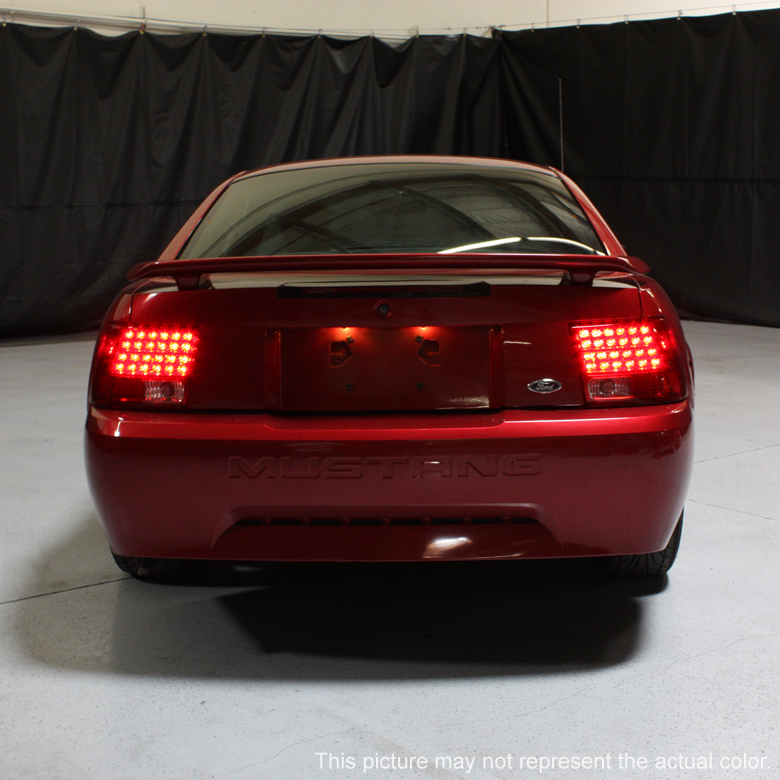 99 04 ford mustang euro style led tail lights smoked 111. Black Bedroom Furniture Sets. Home Design Ideas