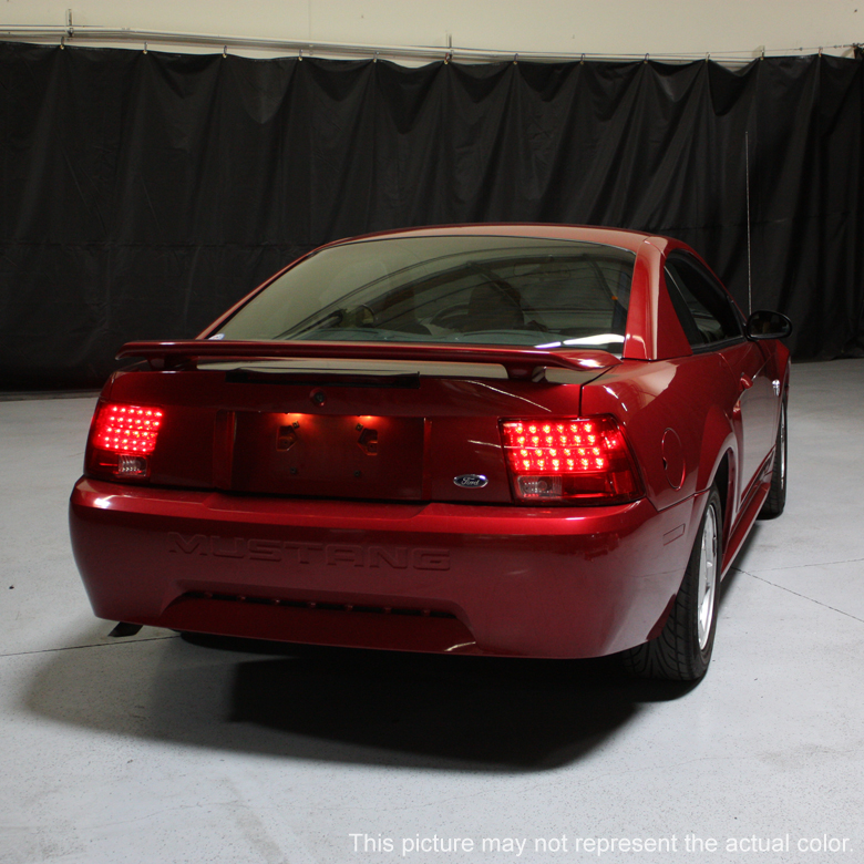 99 04 ford mustang euro style led tail lights red. Black Bedroom Furniture Sets. Home Design Ideas
